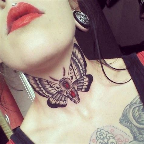 butterfly tattoo throat 42 best images about neck tattoos on pinterest