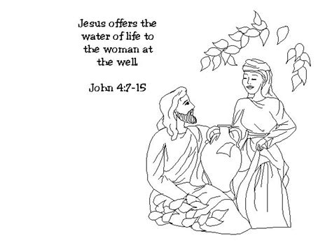 jesus and the samaritan at the well coloring pages pin by j on my sunday school class