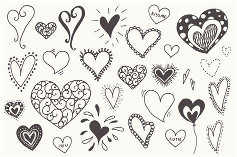 doodle hearts doodle hearts clip graphics on creative market