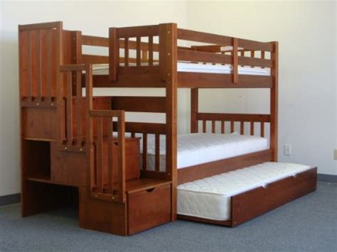 Bunk Bed King Reviews Bedz King Stairway Bunk Bed With Trundle Espresso In The Uae See Prices