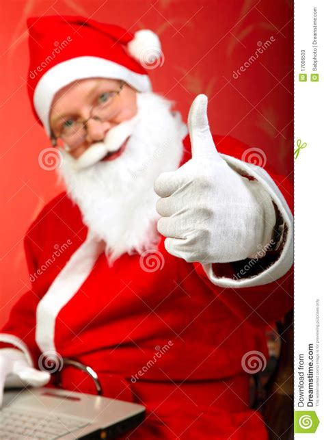 santa claus thumbs up santa claus stock image image of portrait indoor 17006533