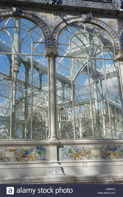 buy house crystal palace palacio cristal palace retiro madrid spain glass house crystal palace stock photo