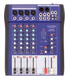 Equalizer Mixer Mc Audio 4 Channel Untra Slim Mixer Wf 4g Usb 1 2 mix4 2fx factor electronics