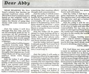 column of dear abby from years ago parenting pinterest