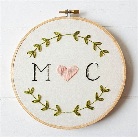 embroidery gifts custom monogram embroidery hoop embroidered