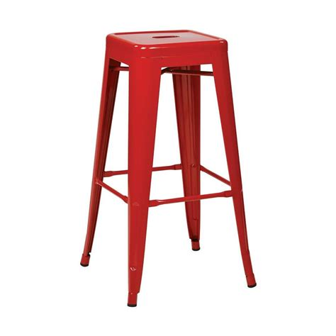 osp designs patterson 30 in red bar stool set of 2