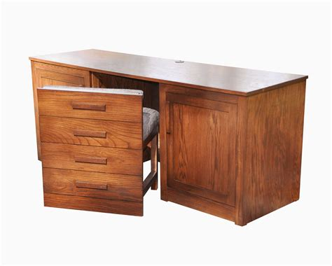 Concealed Desk by Buy A Crafted Oak Desk With Concealed Chair Made To