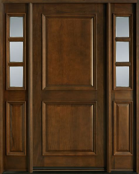 Entry Door In Stock Single With 2 Sidelites Solid Wood Single Exterior Door