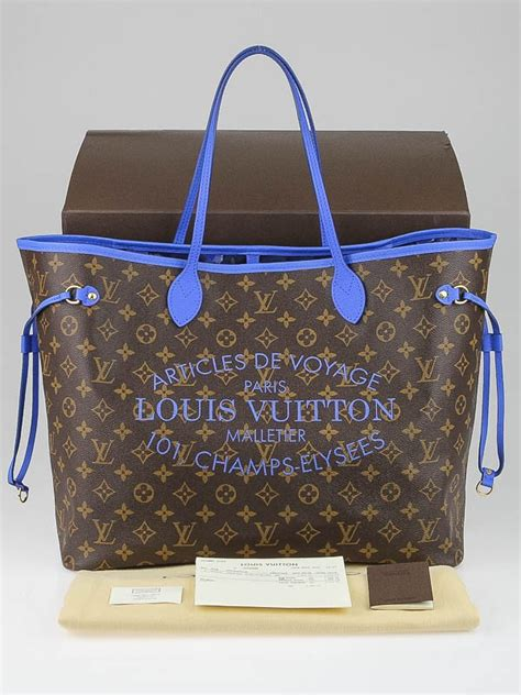 Po Lv Neverfull Limited Edition Lgsg Contact Louis Vuitton Limited Edition Grand Bleu Monogram Ikat