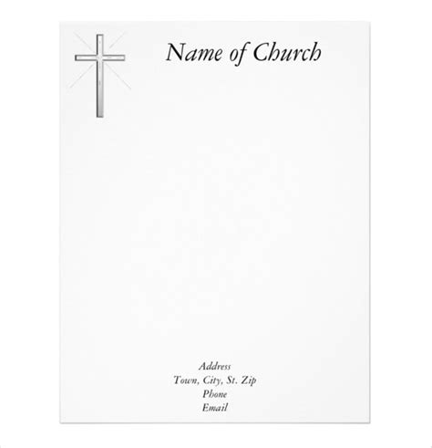 11 church letterhead templates free sle exle