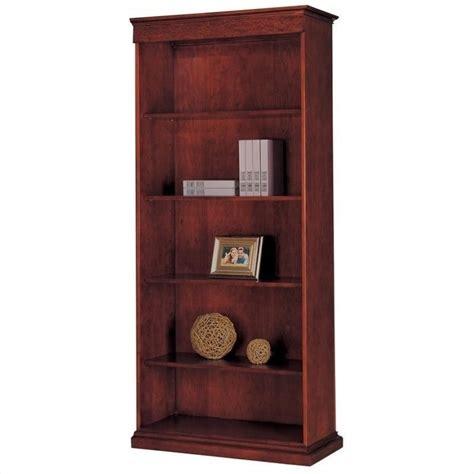 bush birmingham 5 shelf wood bookcase in harvest cherry
