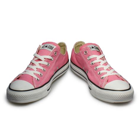 Converse All Pink converse all pink white canvas trainers sneakers shoes womens size 3 9 ebay