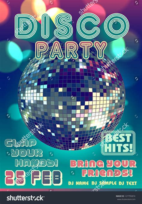 disco party poster stock vector 127795874 shutterstock