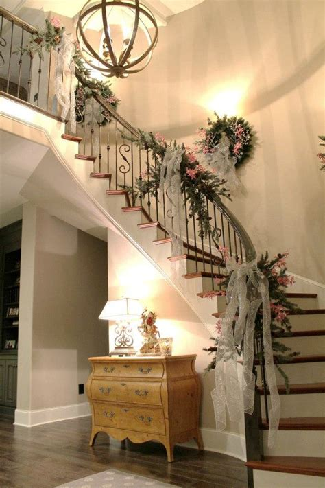stairs decorations top 40 staircase garland designs for christmas christmas