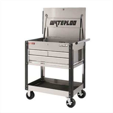 Stainless Steel Utility Cart With Drawers by Waterloo Uc310ss Stainless Steel Utility Cart Workshop