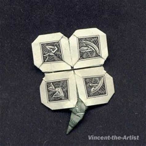 Origami Four Leaf Clover Dollar Bill - dollar bill origami leaf clover and clovers on