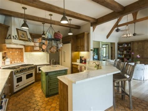 country kitchen kauai five bedroom shore estate with pool barn on