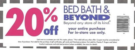 20 Coupon Bed Bath Beyond by Bed Bath And Beyond Coupons Printable Coupons