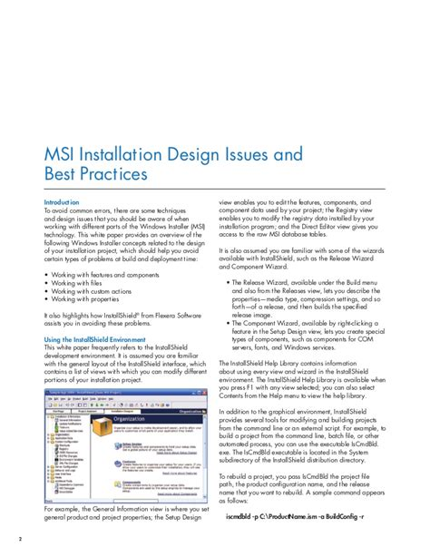 design issues msi installation design issues and best practices