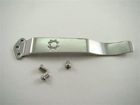 spyderco c07p pocket clip screws 4 harpy knife stainless w logo b18 ebay