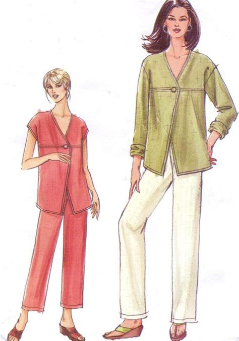sewing pattern unlined jacket womens unlined jacket or top and pants oop vogue sewing