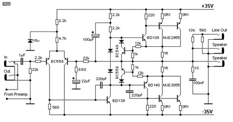 Audio Power Lifier Yamaha 100w 100w audio schematic get free image about wiring diagram