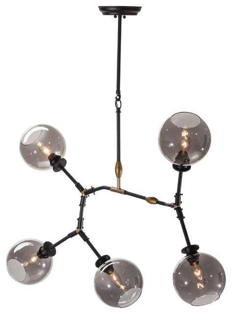 Atom Pendant Light Atom 5 Light Pendant L Contemporary Pendant Lighting By Nuevoliving