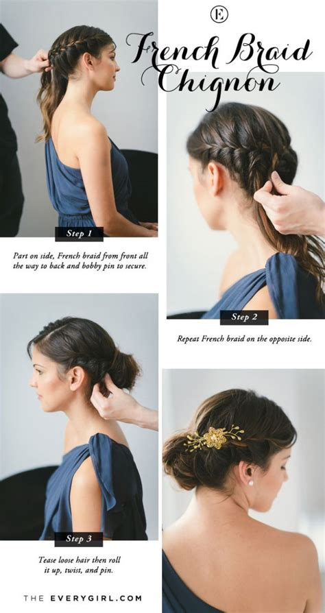 french braid bangs step by stoe 5 quick and easy bridesmaid hairstyles the everygirl