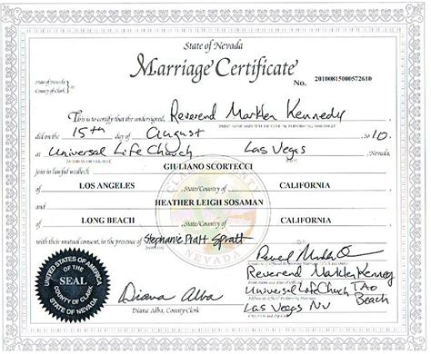 Las Vegas Marriage Licenses Records You Can At Any Time Get Copies Of Your Marriage License By