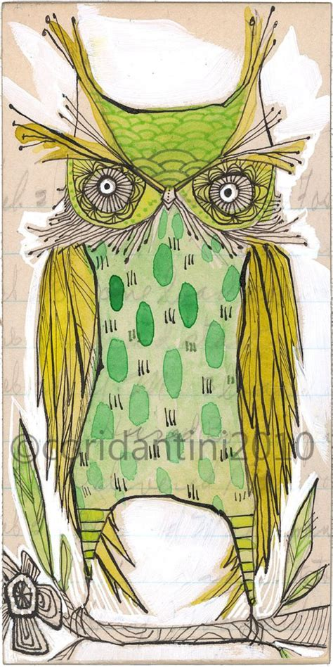 Owl Limited owl owl watercolor and owl illustration on