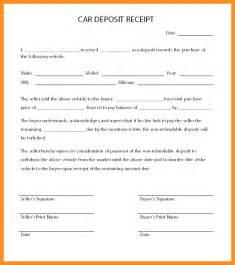 car sales receipt template free 4 car sale receipt template uk parts of resume