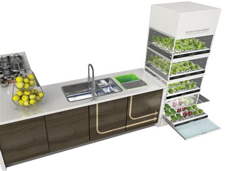 Shon Kitchen by Kitchen Nano Garden Serves Excellent Way To Grow Your Own