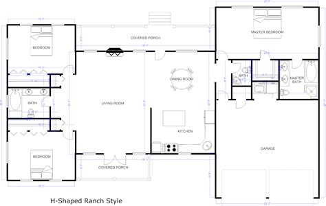 Free House Floor Plans floor plan example h ranch house plan