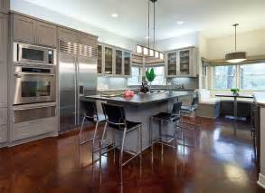 Open Kitchen Design With Island by Open Contemporary Kitchen Design Ideas Idesignarch
