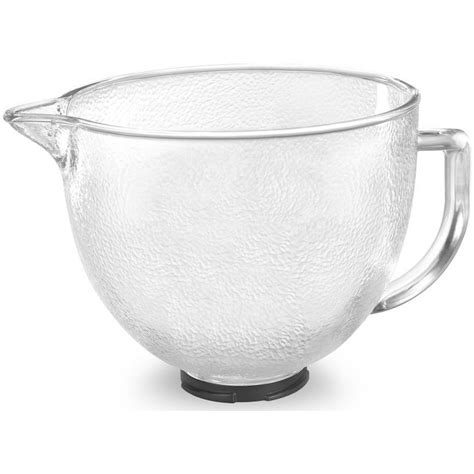 Hammered KitchenAid Mixer Glass Bowl for Tilt Head Mixers