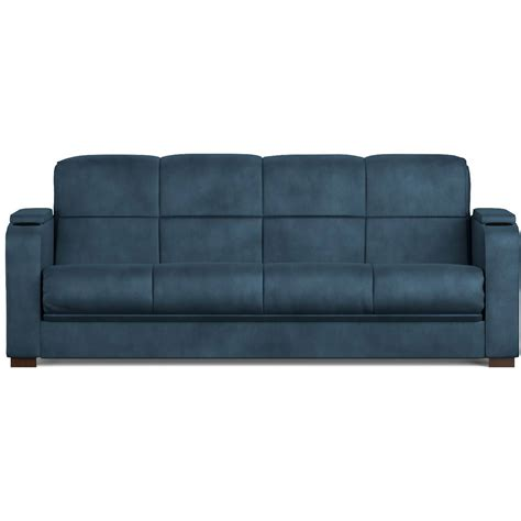 Mainstays Tyler Microfiber Storage Arm Futon Sofa Sleeper Mainstays Sofa Sleeper