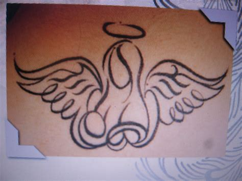 simple angel tattoo designs this will be my