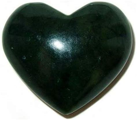 dark jade black nephrite jade heart 2 quot gemstone heart collectibles