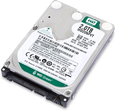 Hardisk Wd 2 5 Green Power Wd20npvt 2tb 2 5in Hdd Oem