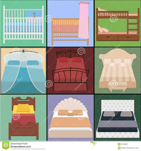 types of bedding vector bed set collection different types of beds vector