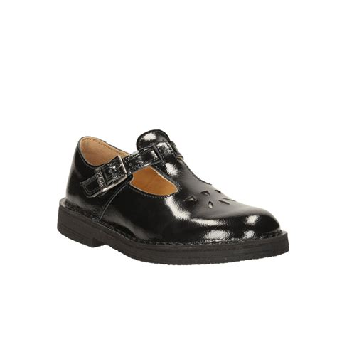 s t shoes clarks desertjane s t bar school shoe in black