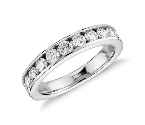 channel set ring in 14k white gold 1 ct tw