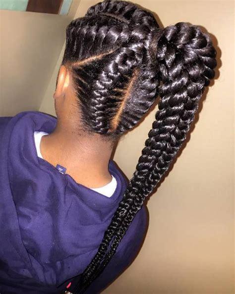 big scalp braids in ponytail 60 inspiring exles of goddess braids goddess braids