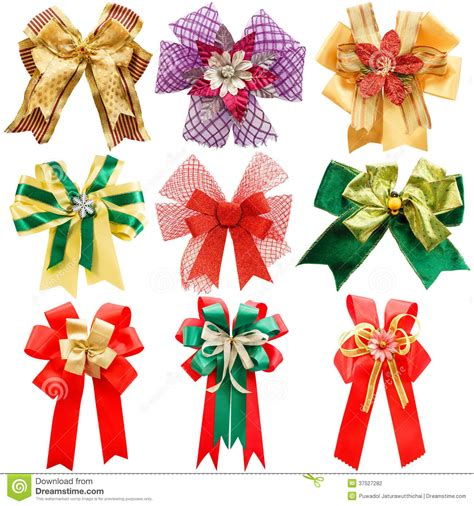 colorful bows colorful bows set royalty free stock photo