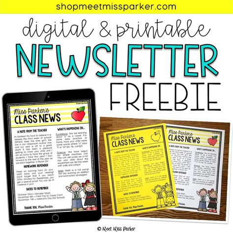Best 25 Newsletter Template Free Ideas On Pinterest Parent Newsletter Parent Newsletter Easy To Use Newsletter Templates Free