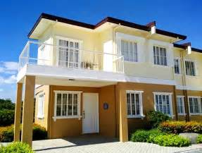 Single Floor Home Front Design Catherine Townhome Townhouses For Sale Cavite Philippines