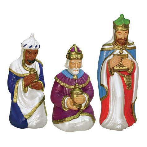 General Foam Plastics Set Of 3 Wisemen Nativity Figures Lighted Figures