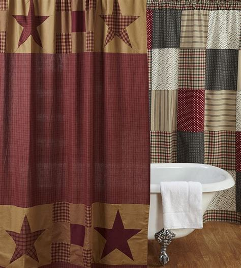 primitive shower curtains sale country primitive shower curtains from the patch