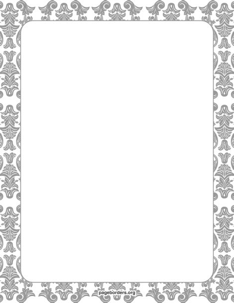 6 best images of printable damask borders for invitations printable damask border free gif jpg pdf and png