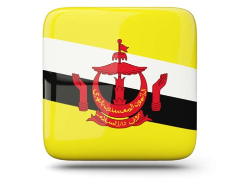 icon design brunei glossy square icon illustration of flag of brunei